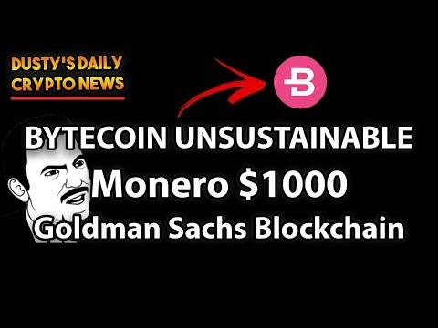 [DDCN#3] BYTECOIN BE CAREFUL! | MONERO $1000 | GOLDMAN SACHS BLOCKCHAIN!