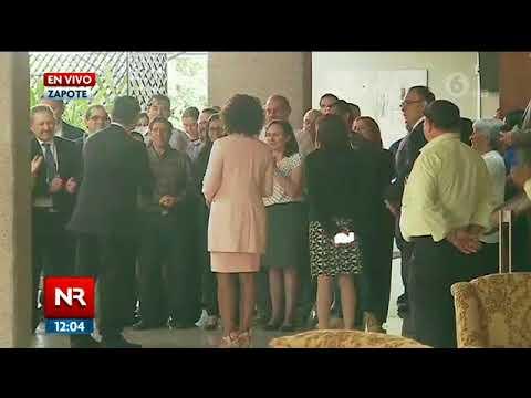 Presidente Alvarado recibió al PLN y PRN
