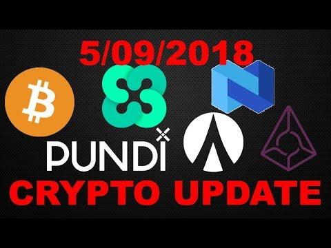 Crypto Update 5/09/2018: Bitcoin (BTC)/  Pundi X (NPXS) /Ethos (BQX) / NEXO /Augur (REP) / Dentacoin