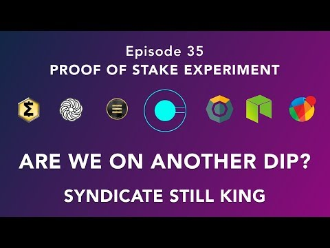 Proof of stake experiment episode 35 – SYNX still smashing it and are we on another dip?