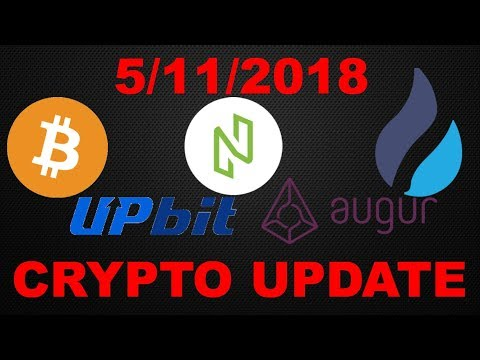 Crypto Update 5/11/2018: Bitcoin (BTC)/ Upbit Exchange /Augur (REP)/ NULS / Bytecoin (BCN)/ Huobi