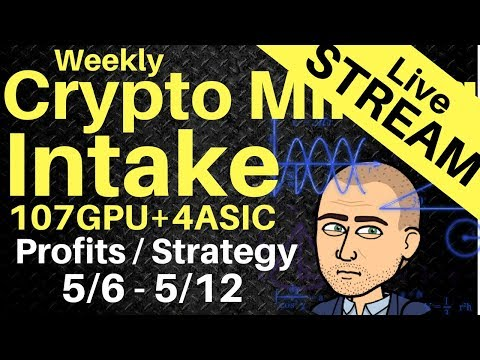 [Stream] Weekly Crypto Mining Intake  – Counting the beans and giving away $ETH