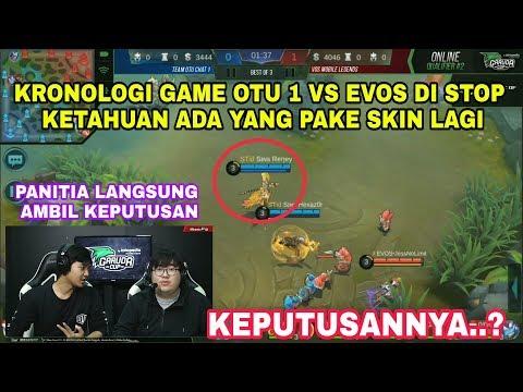 KRONOLOGI GAME OTU 1 VS EVOS DI STOP GARA2 ADA YANG KETAHUAN PAKE SKIN LAGI, KEPUTUSANNYA..?