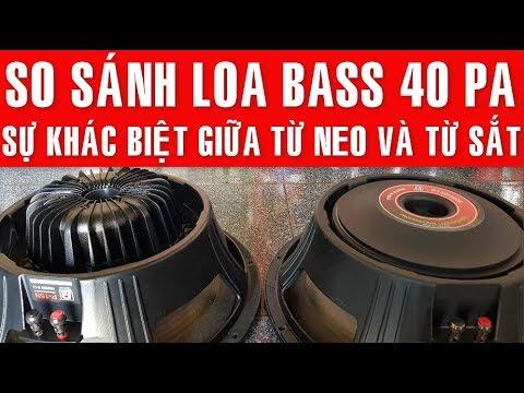 So Sánh Loa Bass 40 PA, Bass Từ Neo Và Bass Từ Sắt, Made In Thailand ✔