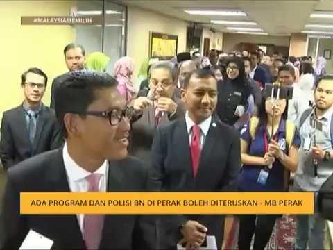 #MalaysiaMemilih: Ada program dan polisi BN di Perak boleh diteruskan – MB Perak