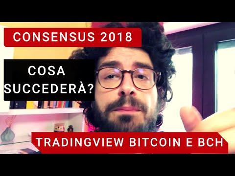 CONSENSUS 2018 e Tradingview bitcoin e bitcoin cash.