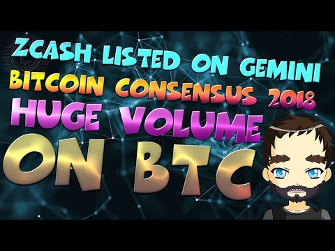 Zcash Listed on Gemini – Consensus Bitcoin Candle is Huge!