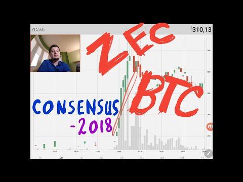 Рост ZCASH . Bitcoin . Мои торговые решения . Consensus 2018