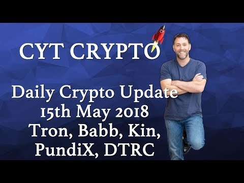 Daily Crypto Update – Tron, Babb, Kin, PundiX, Bitcoin, DTRC