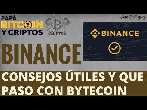BINANCE consejos útiles en español, Caso Bytecoin- Ardor