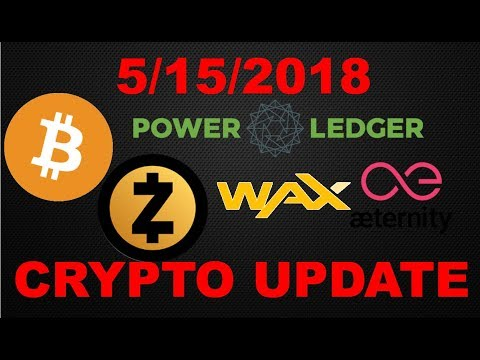 Crypto Update 5/15/2018: Bitcoin (BTC)/ Zcash (ZEC)/ Power Ledger (POWR)/ Aeternity / Wax & Matrix