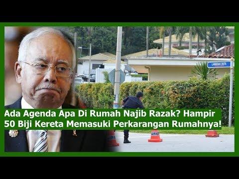 Ada Agenda Apa Di Rumah Najib Razak? Hampir 50 Biji Kereta Memasuki Perkarangan Rumahnya!