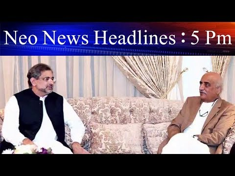 Neo News Headlines | 5 : 00 Pm | 17 May 2018 | Neo News