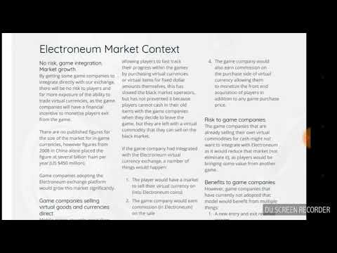 ELECTRONEUM GAMBLING MARKET NOW OPEN.