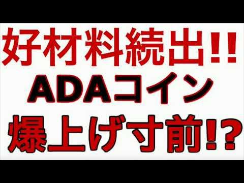 【仮想通貨】ADAコイン爆上げ秒読み段階!?