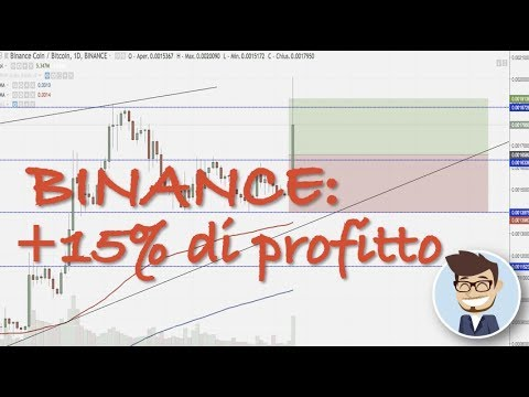 +15% di profitto su Binance Coin. Bitcoin prossimo step in area 7.800$