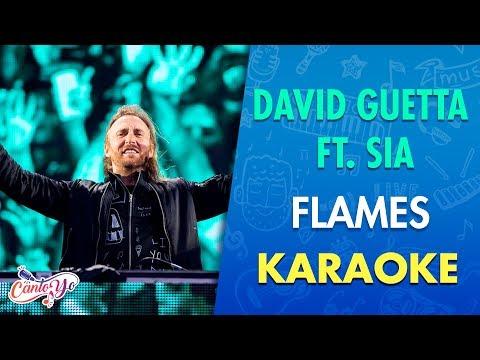 David Guetta & Sia – Flames (Karaoke) | CantoYo