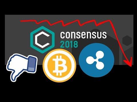 Провал Consensus 2018 Bitcoin, Ripple XRP почему нет роста? прогноз цены