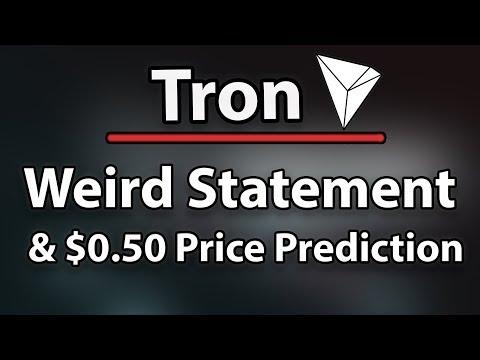 Tron (TRX) Weird Statement & $0.50 Price Prediction Analysis!