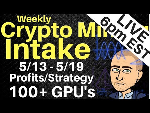 [Stream] Weekly Crypto Mining Intake LIVE – 100+ GPU Farm Income/Profits/Strategy