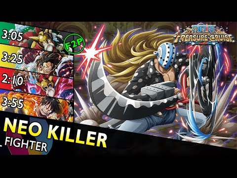 [OPTC] Neo Killer Colosseum | Fighter Only – 4 Teams (F2P, Lucy, G4, TS Luffy)