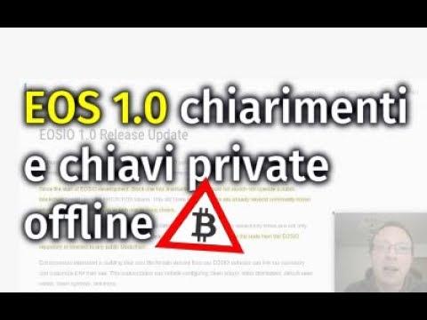 -10 a EOS 1.0, chiarimenti e generare / verificare chiavi offline