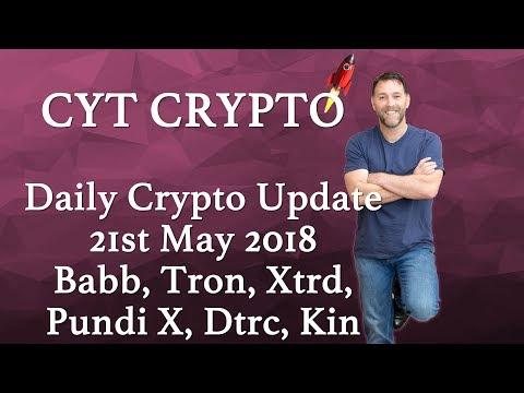 Daily Crypto Update – Tron, Babb, Kin, PundiX, Bitcoin, Xtrd, Dtrc,