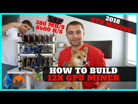 How To Build 12 GPU Mining Rig w/ RX 570 8gb – 380 mh/s ETH + 8400 hashes XMR