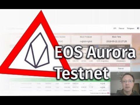EOS Aurora Testnet e come vedere i propri EOS sul wallet via terminale
