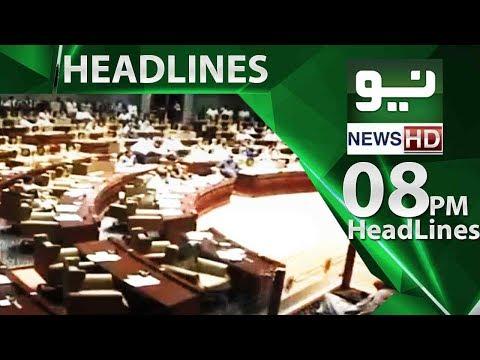 News Headlines | 08:00 PM | 22 May 2018 | Neo News