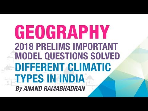 DIFFERENT CLIMATIC TYPES IN INDIA | PRELIMS IMPORTANT MODEL QUESTION SOLVED | GEOGRAPHY | NEO IAS