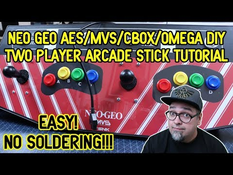 No Soldering! How To Make A Neo Geo AES/MVS/CBox/Omega DIY Controller