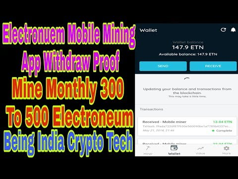 Electroneum Mobile Mining App Withdraw Proof | Mine 300 to 500 etn monthly | Being india Crypto Tech