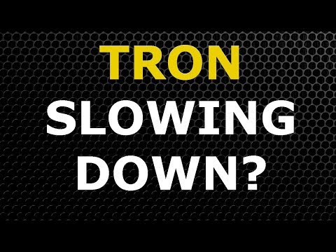 Tron TRX Is Slowing Down? –  Let's Look At The Chart