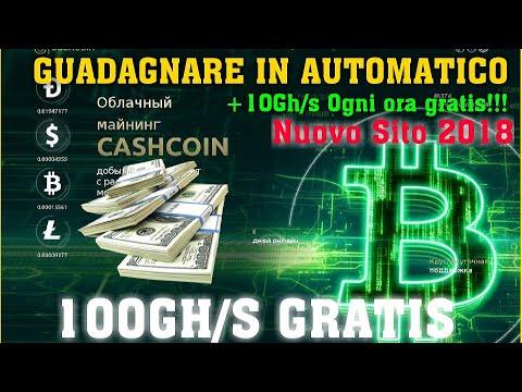 CASHCOIN GUADAGNARE DOLLARI,BITCOIN,DOGECOIN,LITECOIN E BONUS 100GH/S GRATIS!!!