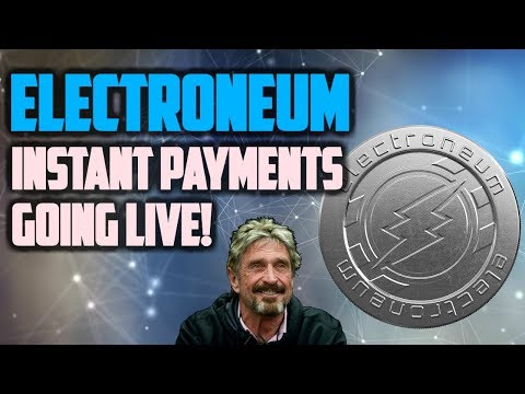 Electroneum News! ETN Instant Payment Update, John McAfee Crypto Predictions!