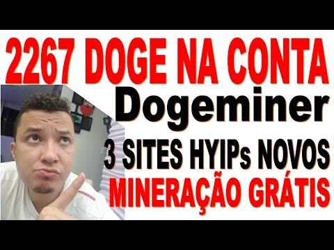 Saque de 2267 Doge na Dogeminer – Mais 3 sites novos de Mineração Hyip