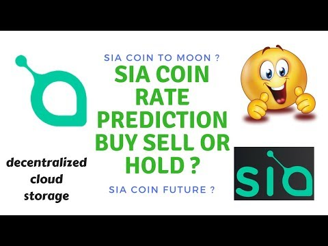 Sia coin rate prediction to moon ? future of sia coin