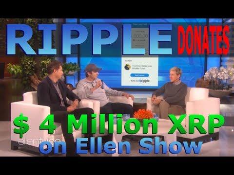 Ashton gives Ellen $4 Million XRP Donation on Air – XRP Donates $4M to Ellen Degeneres