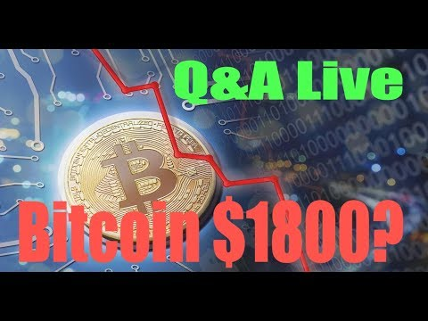 Live Q&A Bitcoin $1800? | cryptocurrency future in india