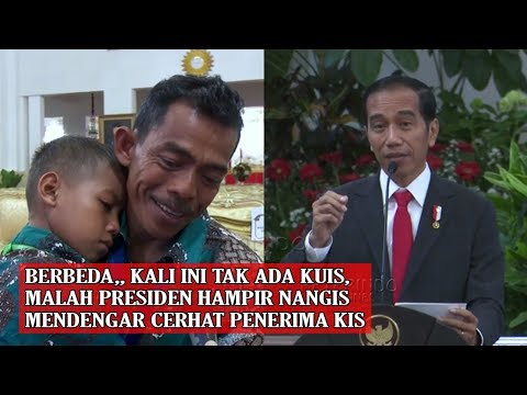ADA YG BEDA, Mata Pres Jokowi Berair Saat Mendengar Rakyatnya Penerima KIS Curhat