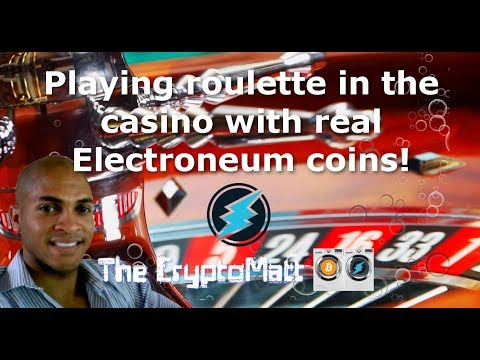 Playing roulette in the casino using real Electroneum coins!
