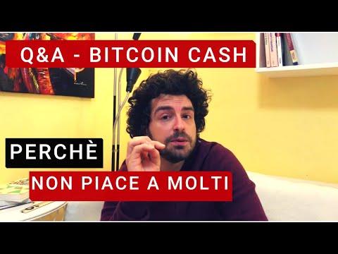 Q&A – Quali progetti sono nel mio portafoglio. Bitcoin cash perché non piace?