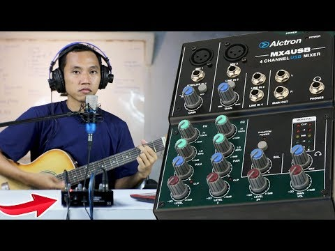 REVIEW USB MIXER AUDIO ALCTRON MX4 ADA PHANTOM POWER ~ #NgabuburitLaiqul eps #7