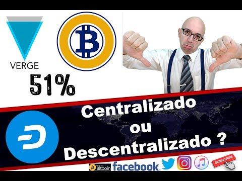 Centralizado ou Decentralizado  e  o porque do ataque de 51% no Bitcoin Gold e Verge