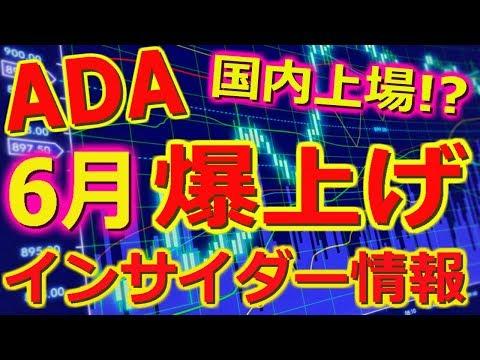 【仮想通貨】ADAが3つの取引所に上場!!6月には国内上場の噂!?5末のイベントまとめと最新インサイダー情報を入手!!