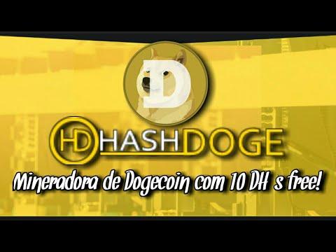 Hashdoge mineradora de Dogecoin com 10 DH/s grátis!