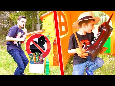 IL A VOLÉ TOUS LES PRINGLES ! – kids pretend play with Pringles