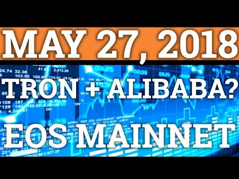 TRON TRX + ALIBABA PARTNERSHIP? EOS MAINNET NEWS! CRYPTOCURRENCY CRASH, PRICE PREDICTION BITCOIN BTC