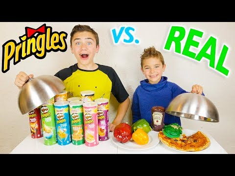 PRINGLES VS REAL FOOD CHALLENGE – Vraie nourriture ou Pringles ?